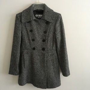 GUESS Double Breast Pea Coat